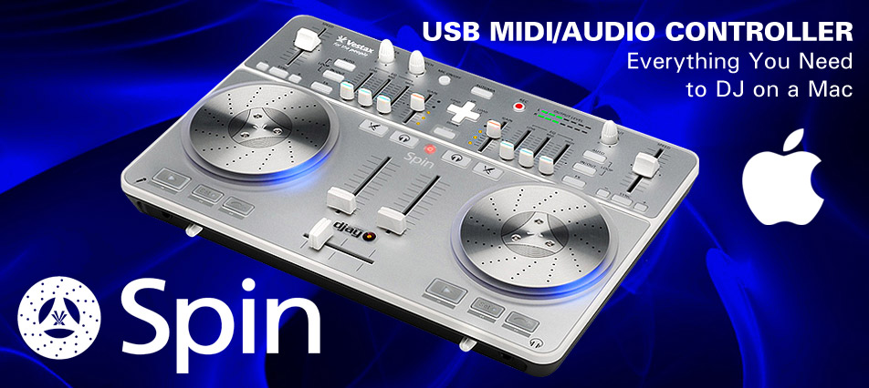 Vestax SPIN MIDI controller for MAC